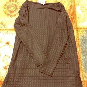 Black long sleeve dressy- flowy material